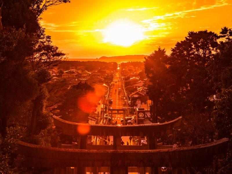 福岡県福津市 宮地嶽神社 光の道