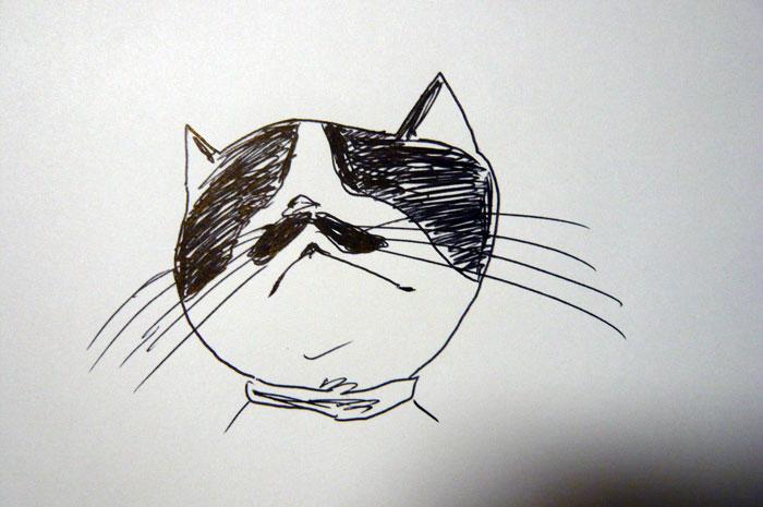 かご猫 イラスト ちょび
