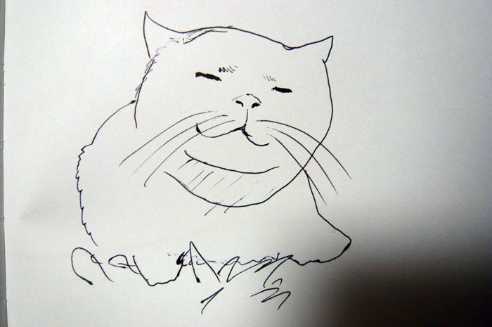 かご猫 イラスト しろ