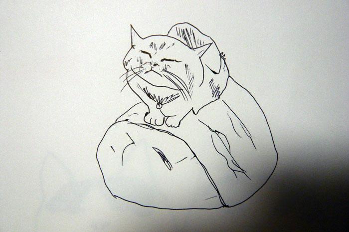 かご猫 イラスト 茶トラ