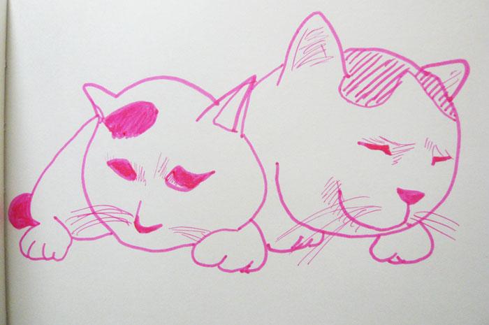 かご猫 イラスト みみ しろ